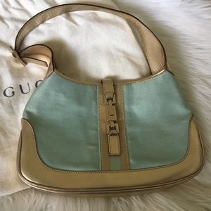 Gucci Jackie O Gold & Blue Shimmer Bag
